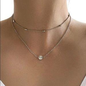 5/$12 💞 Silver Layered Boho Minimalist Necklace